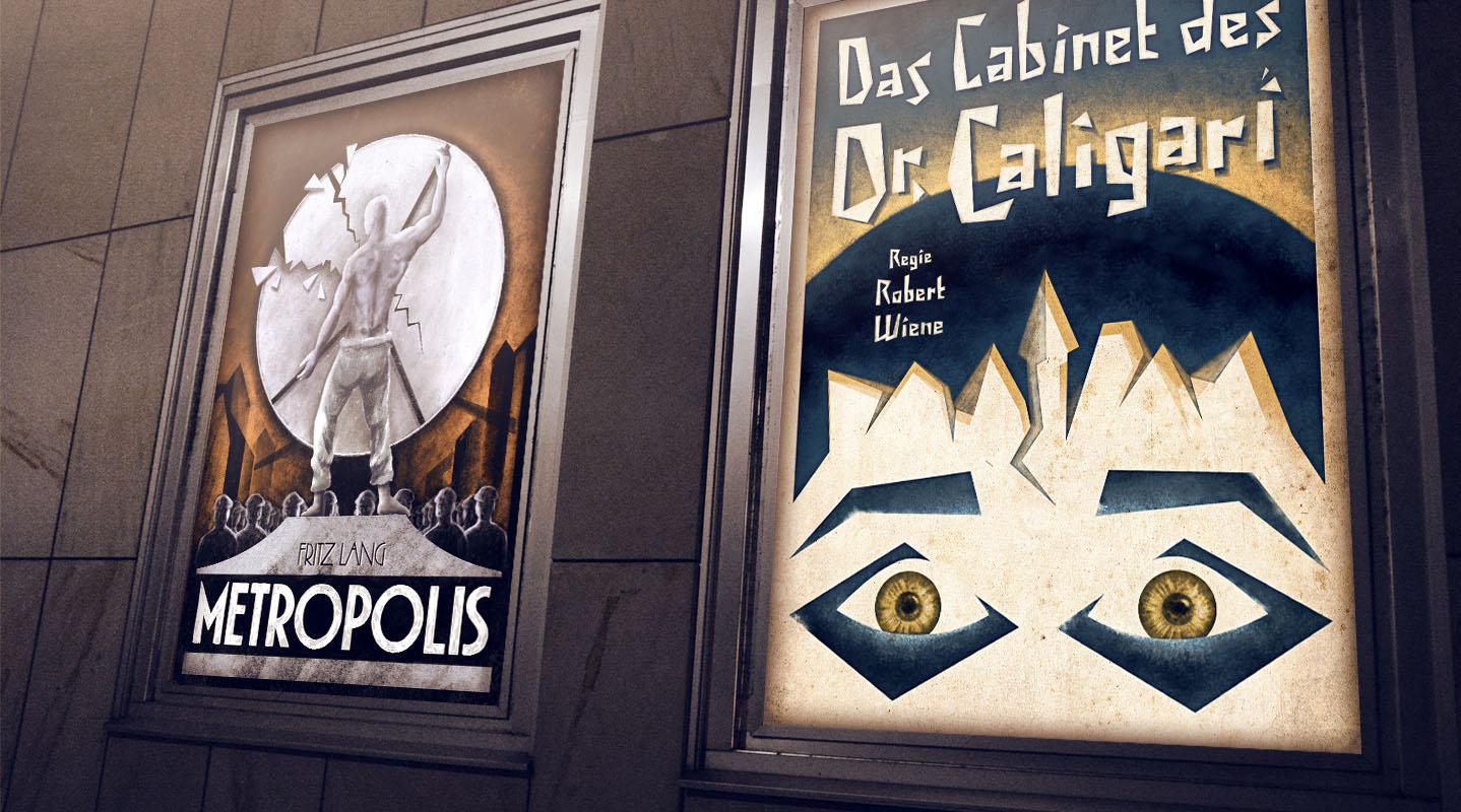 Silent Movie Poster Header