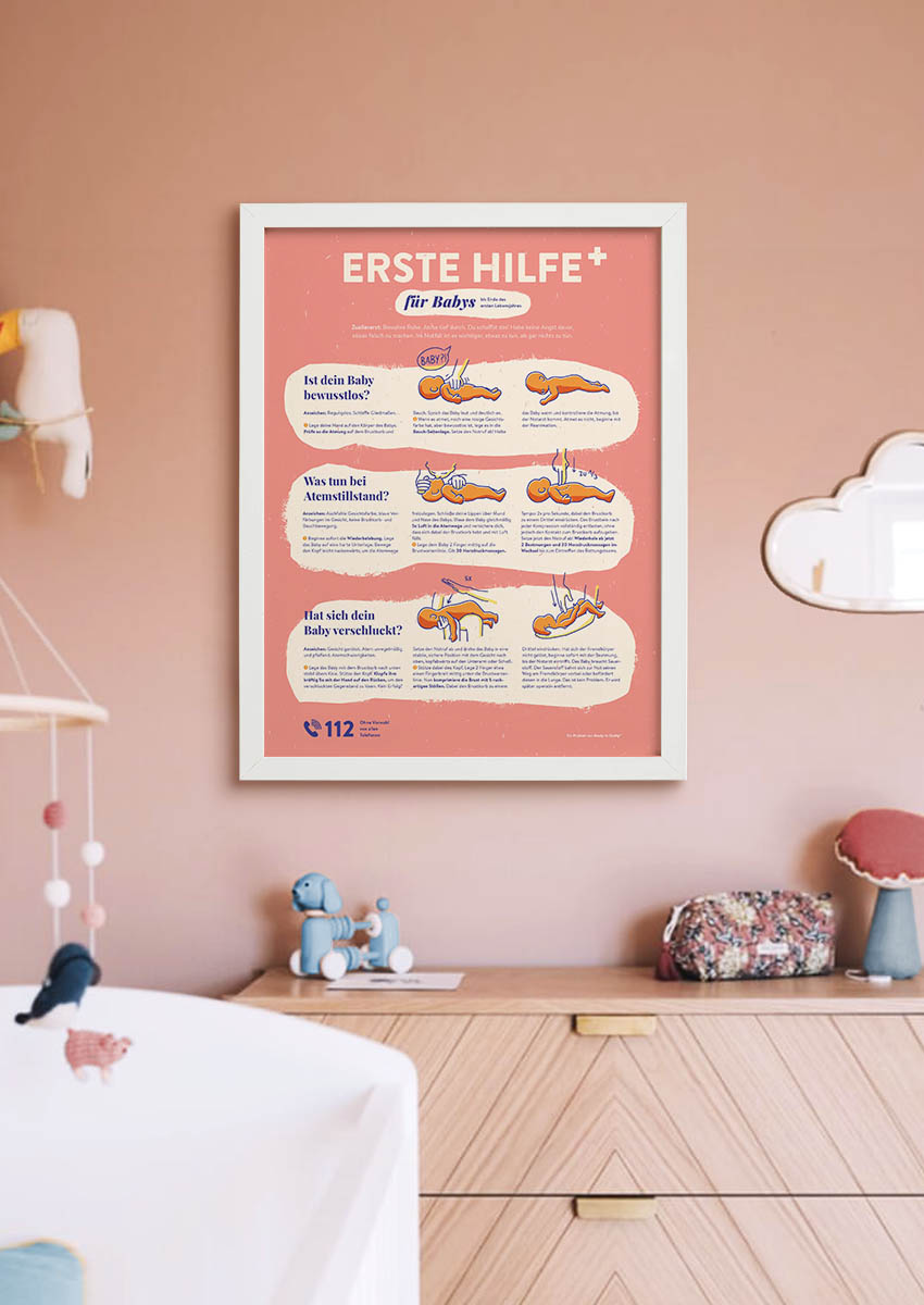 Erste Hilfe für Babys Poster Umfeld Mama